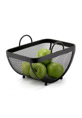 CASA MESH FRUIT BASKET - MATT BLACK
