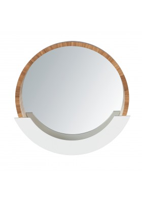 WENKO - Wall Mirror Finja with Shelf - Bamboo
