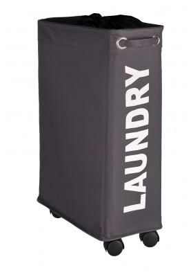 WENKO - Corno Laundry Basket - Grey 43L