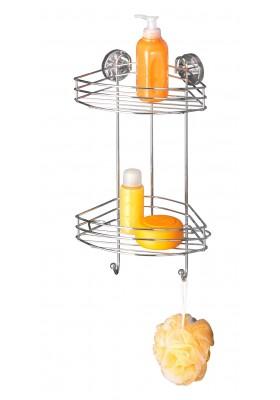 WENKO - Vacuum-Loc 2-Tier Corner Rack - No Drilling Required