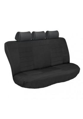 ULTIMATE HD REAR SEAT COVERS (BLACK/BLACK)