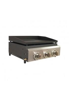 ATACAMA TABLETOP 3 BURNER GAS PLANCHA & GRILL BBQ