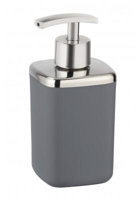 Wenko - Soap Dispenser - Barcelona Range - Anthracite - Unbreakable - 370Ml