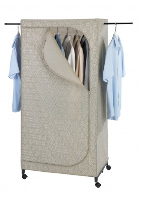 Wenko - Foldable Wardrobe With Wheels - 75X160X50 - Balance Range - Beige