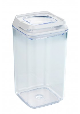 TURIN VACUUM AIRTIGHT STORAGE CONTAINER - CLEAR - 1.2L