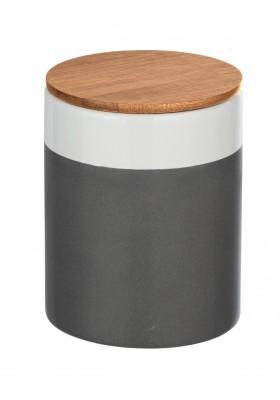 Wenko - Malta Ceramic Storage Container - Bamboo Lid -  Grey/White - 950ml