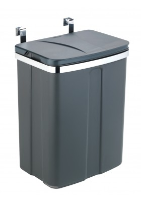 Wenko - Over-Door Kitchen Bin - 12L - Grey