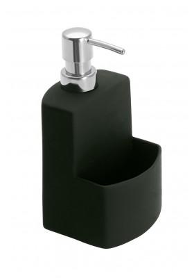Wenko - Washinging Up Liquid Dispenser & Sponge Holder - Black