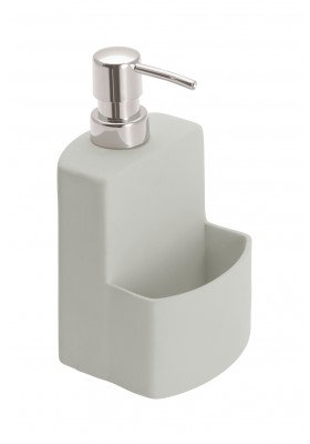 Wenko - Washinging Up Liquid Dispenser & Sponge Holder - Grey