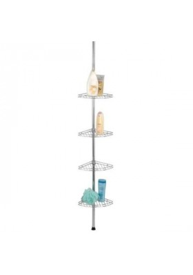 Wenko - Telescopic Shower Corner 4-Level Shelf - Prea Model - S/Steel