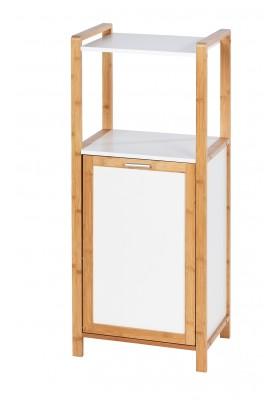 Wenko - Finja Shelf Unit W/ Laundry Basket - Bamboo