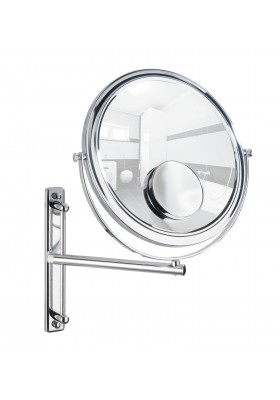 Wenko - Cosmetic Wall Mirror With Swivelling Arm - Bivona Model