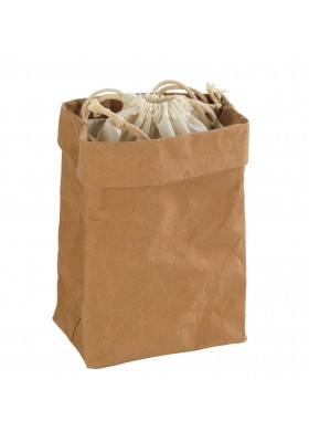 Wenko - Washable Paper Bag -  Storage Or Décor - Small - 16X27X11cm