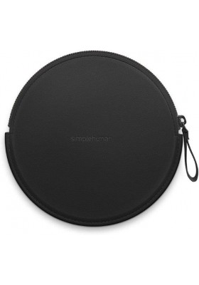 SIMPLE HUMAN - Zip Case For Sensor Mirror Compact - Vegan Leather - Black
