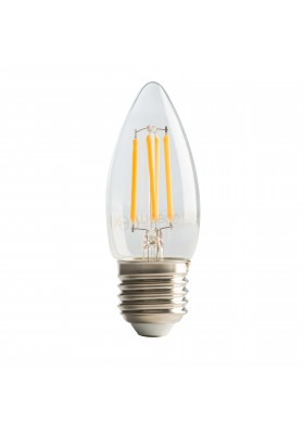 Filament Candle E27, 4W, 470LM Warm White, 2700K Dimmable Lamp