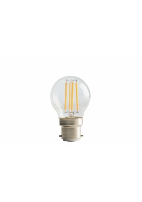 Filament Mini Globe, B22, 4W, 470LM, Warm White, 2700k, Non-Dimmable Lamp