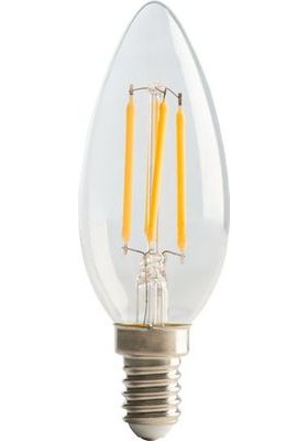 Filament Candle SES14, 4W, 470LM Warm White, 2700K Non-Dimmable Lamp