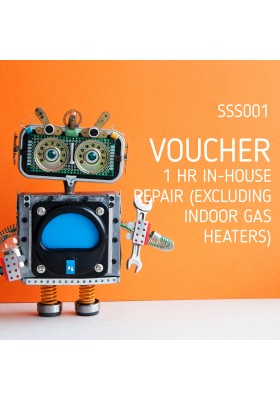 VOUCHER: 1 HR IN-HOUSE REPAIR (EXCL. INDOOR GAS HEATERS)
