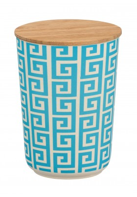 Wenko - Edge Airtight Storage Jar - Bamboo Lid - 700ml