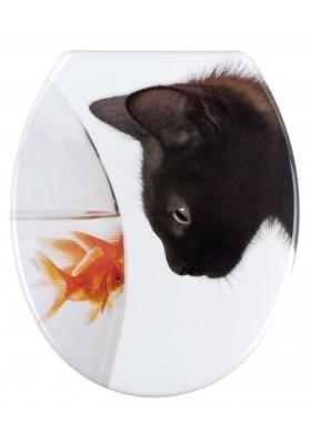 TOILET SEAT - FISH & CAT - DUROPLAST