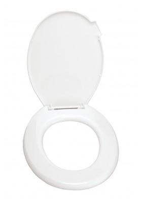 TOILET SEAT  - WHITE - THERMOSET PLASTIC