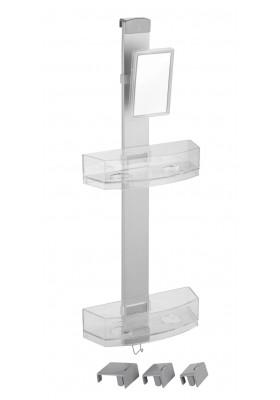 SHOWER CADDY WTH ANTI-FOG MIRROR - PREMIUM MODEL