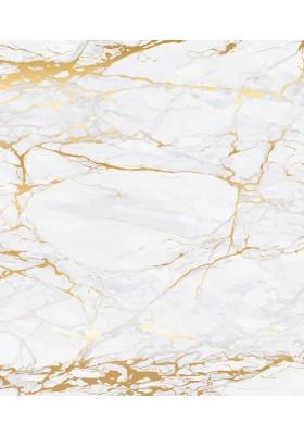 GLASS SPLASHBACK - MARBLE GOLD - TEMPERED - 60 X 70 CM -  4MM