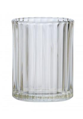 TOOTHBRUSH TUMBLER - VETRO RANGE - GLASS - TRANSPARENT BROWN