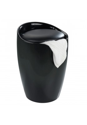 CANDY BATHROOM STOOL / 20L LAUNDRY BIN - BLACK