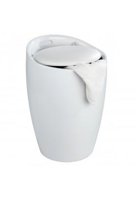 CANDY BATHROOM STOOL / 20L LAUNDRY BIN - PETROL WHITE