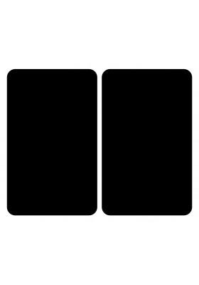 HOB COVER PLATES - 2PC UNIVERSAL BLACK TEMPERED GLASS - 30x52cm