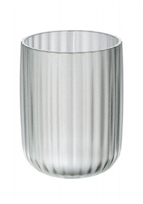 TOOTHBRUSH TUMBLER - AGROPOLI RANGE - WHITE  - FROSTED PLASTIC