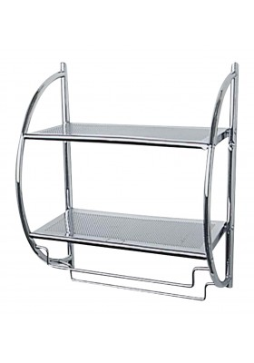 2-SHELF WALL RACK - EXCLUSIVE RANGE - CHROME