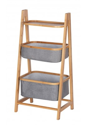 WENKO - BAHARI SHELVING UNIT WITH 2 BASKETS - BAMBOO