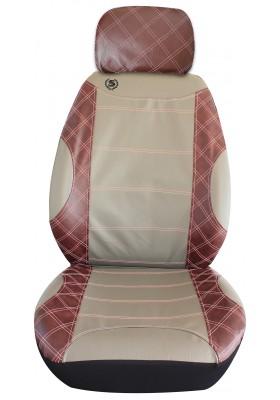 Stingray Heritage Front Seat Cover Set Grey_Burgundy