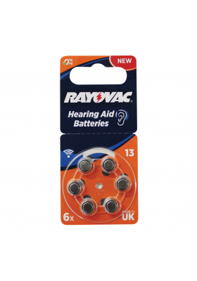 SIZE 13 HEARING AID BATTERIES (6 PACK)