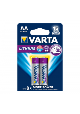 LITHIUM BATTERIES AA 2 PACK