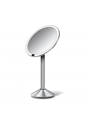 16cm SENSOR MIRROR - 7x MAG - RECHARGEABLE - BRUSHED S/STEEL