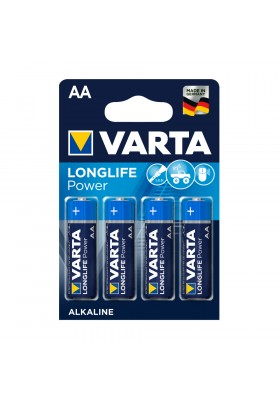 LONGLIFE POWER BATTERIES AA 4 PACK (Hi-Energy)