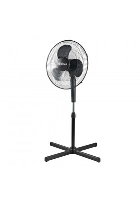 40CM PLASTIC PEDESTAL FAN (BLACK)